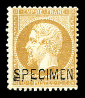 * N°21c, 10c Bistre Surchargé 'SPECIMEN', TB (certificat)  Qualité: *  Cote: 1000 Euros - 1862 Napoleone III