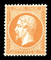 * N°23, 40c Orange, Grande Fraîcheur, Très Bon Centrage. SUP (Certificats)  Qualité: * - 1862 Napoléon III