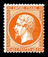 (*) N°23, 40c Orange. TB (signé Calves)  Qualité: (*)  Cote: 500 Euros - 1862 Napoleon III