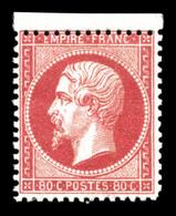 ** N°24, 80c Rose, Fraîcheur Postale Bdf, SUP (signé Brun/certificat)  Qualité: ** - 1862 Napoleone III