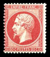 * N°24, 80c Rosevif. TB (signé Calves/certificat)  Qualité: *  Cote: 2300 Euros - 1862 Napoleone III