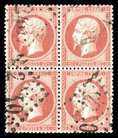 O N°24c, 80c Roseclair En Bloc De Quatre, Très Bon Centrage. SUP (signé Brun/certificat)  Qualité: O - 1862 Napoleone III