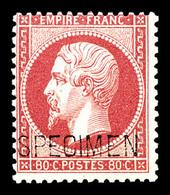 ** N°24d, 80c Rose Surchargé 'SPECIMEN', Fraîcheur Postale, SUP (signé Calves/certificat)  Qualité: ** - 1862 Napoléon III