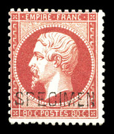 * N°24d, 80c Rose Surchargé 'SPECIMEN', TTB (signé/certificat)  Qualité: *  Cote: 1300 Euros - 1862 Napoleone III