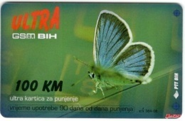 Bosnia Post Sarajevo - ULTRA PREPAID CARD (recharge) 100 KM - Bosnië
