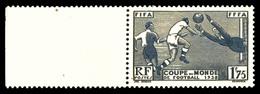 ** N°396, Coupe Du Monde De Football, Couleur Ardoise Métalisée Au Lieu D'outremer. SUPERBE. R.R. (signé Calves/certific - 1900-02 Mouchon