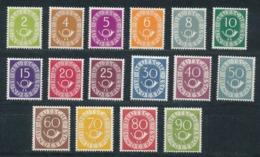 """Bund 123/38 Posthornsatz ** Fotoattest Schlegel """"einwandfrei"""" - Unused Stamps"""