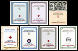 ** Carnets Croix Rouge De 1953 à 1960 (sf 1955), Les 7 Carnets TB  Qualité: **  Cote: 665 Euros - Carnets