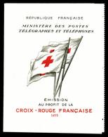 ** Carnet Croix Rouge De 1955, TB (certificat)  Qualité: **  Cote: 450 Euros - Carnets