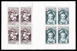 ** Croix Rouge De 1962: 2ème Tirage Lilas Foncé Et Gris, Très Beau, Rare (certificat)  Qualité: **  Cote: 925 Euros - Carnets