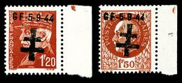 ** N°1/2, PONTARLIER (Doubs): 1F20 Et 1F50 Brun Rouge BDF, TB (certificat)  Qualité: **  Cote: 480 Euros - Liberación
