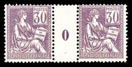 ** N°115, 30c Violet En Paire Millésime '0', TB  Qualité: **  Cote: 740 Euros - Millésimes