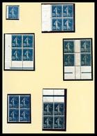 & N°140, 25c Semeuse: Très Bel Ensemble De Variétés Neuves, Oblitérés Et Lettres Présentées Sur 19 Pages D'album Dont Pi - Varieties: 1900-20 Used