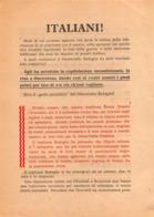 """08656 """"ITALIANI! APPOGGIATE LE FORZE ARMATE TEDESCHE..."""" VOLANTINO PROPAGANDA DELL'ASSE II GUERRA MONDIALE. ORIG. - Documenti Storici"""