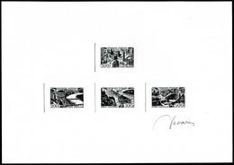 (*) N°24/27, Série Des Villes: épreuve Collective En Noir Grand Format Signée. R.R.R (certificat)  Qualité: (*) - Prueba De Artistas