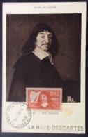 CM47 Carte Maximum 341 Descartes La Haye Descartes - Cartes-Maximum