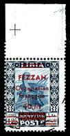 O N°8, 10f S 1f 25 Bleunoir Et Outremer Bdf, Oblitération Légère. SUP. R.R. (certificat)  Qualité: O  Cote: 1600 Euros - Fezzan (1943-1951)