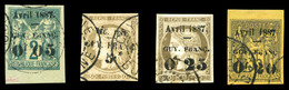 O N°3, 4a, 5 Et 6, Les 4 Valeurs TTB  Qualité: O  Cote: 420 Euros - Guyane Française (1886-1949)