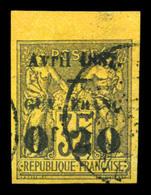 O N°4, 0f 20 Sur 35c, Bord De Feuille. SUP (signé Calves)  Qualité: O  Cote: 320 Euros - Guyane Française (1886-1949)