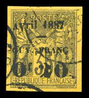 O N°4a, Av Renversé Dans Avril. TB  Qualité: O  Cote: 80 Euros - Guyane Française (1886-1949)