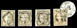 O N°5, 6, 8 Et 10, Les 4 Valeurs TB  Qualité: O  Cote: 525 Euros - Guyane Française (1886-1949)