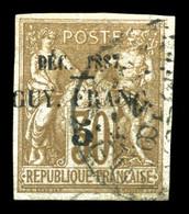 O N°7, 5c Sur 30c De 1877. SUP. R. (signé Calves/certificat)  Qualité: O  Cote: 1700 Euros - Guyane Française (1886-1949)