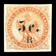 * N°3, 5c Sur 40c Vermillon, Léger Pelurage. B  Qualité: *  Cote: 500 Euros - Réunion (1852-1975)