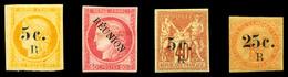 * N°4, 6, 8 Et 12, Les Quatre Val TB  Qualité: *  Cote: 400 Euros - Réunion (1852-1975)