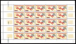 ** N°54, 200F Sur 500F Magister En Feuille Complète De 25 Exemplaires, TTB (certificat)  Qualité: **  Cote: 1325 Euros - Réunion (1852-1975)