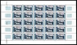 ** N°55, 500F Sur 1000F Provence En Feuille Complète De 25 Exemplaires, TTB  Qualité: **  Cote: 1150 Euros - Réunion (1852-1975)
