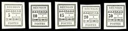 (*) N°1/5, Série De 5 Valeurs De 1889. TB  Qualité: (*)  Cote: 255 Euros - Réunion (1852-1975)