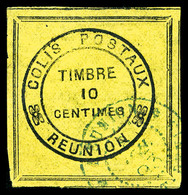 O N°1, 10c Cadre Noir, TB  Qualité: O  Cote: 320 Euros - Réunion (1852-1975)
