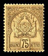 * N°9/20, Série Régence Chiffres Gras: Les 11 Valeurs TB (certificat)  Qualité: *  Cote: 536 Euros - Tunisie (1888-1955)