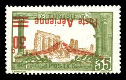 * N°1b, 30c Sur 35 Vert Olive Et Brun: Surcharge Renversée. TB  Qualité: *  Cote: 250 Euros - Tunisie (1888-1955)