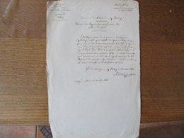 LOUVIGNIES LEZ BAVAY LE 13 OCTOBRE 1844 LE MAIRE A: ROBAUT EXTRAIT DU REGISTRE DES NOTIFICATIONS DES ORDRES DE ROUTE - Documents Historiques