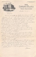 """08658 """"THE COPLEY - PLAZA HOTEL - BOSTON MASSACHUSETTS"""" LETTERA AUTOGRAFA SU CARTA INTESTATA ORIG. - Manoscritti"""