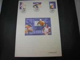 "BELG.2000 2908 2909 2910 & BL86 FDC Filatelic Card : ""SYDNEY OLYMPICS 2000"" With Signature ELS VANDEVYVERE - FDC"