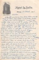 """08659 """"HOTEL LA SALLE - CHICAGO 25 SETTEMBRE 1921"""" LETTERA AUTOGRAFA SU CARTA INTESTATA ORIG. - Manoscritti"""