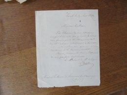 LAVAL LE 19 AOUT 1844 COURRIER LE COLONEL DU 28e DE LIGNE A MONSIEUR LE MAIRE DE LA COMMUNE DE LOUVIGNIES LES BAVAY - Documenti