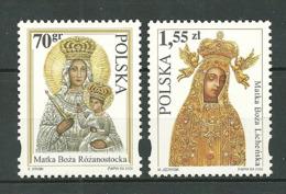 POLAND MNH ** 3623-3624 SANCTUAIRE MARIAL. MARIE DE ROZANYSTOK. MARIE DE LICHEN - 1944-.... Republik
