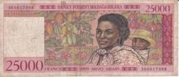 BILLETE DE MADAGASCAR DE 25000 FRANCS DEL AÑO 1998 (BANKNOTE) - Madagascar