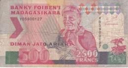 BILLETE DE MADAGASCAR DE 2500 FRANCS DEL AÑO 1993 (BANKNOTE) - Madagascar