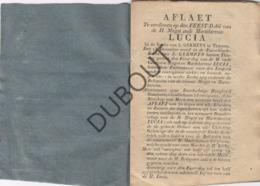 TIENEN/TIRLEMONT Aflaat H. Lucia Sint Germanus Kerk - Druk: Merckx   (R71) - Libros, Revistas, Cómics