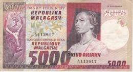 BILLETE DE MADAGASCAR DE 5000 ARIARY DEL AÑO 1974 (BANKNOTE) - Madagascar