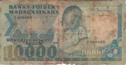 BILLETE DE MADAGASCAR DE 10000 ARIARY DEL AÑO 1983 (BANKNOTE) - Madagascar
