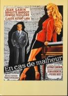 """CPM. > Cinema > Affiches Sur Carte > Brigitte BARDOT - """" En Cas De Malheur 1958 """" - TBE - Posters On Cards"""
