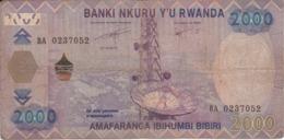 BILLETE DE RWANDA DE 2000 FRANCS DEL AÑO 2014 CAFE  (BANKNOTE) - Rwanda