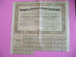Obligation / Bond : 1923 Cie Des Chemins De Fer  DANUBE - SAVE 8 ADRIATIQUE - Andere