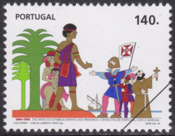 Specimen, Portugal Sc2036 Senegal Joint Issue, Arrival Of Portuguese In Senegal 550th Anniversary, Emission Commune - Gemeinschaftsausgaben