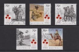 Australia 2015 Animals In War Set Of 5 CTO - 2010-... Elizabeth II